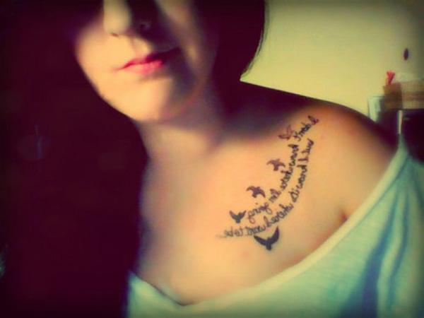 flower tattoos on collar bonecollar bone tattoo