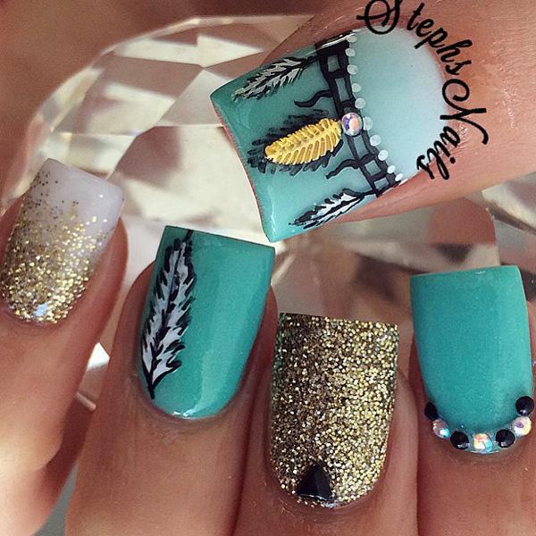 glitter nail-13