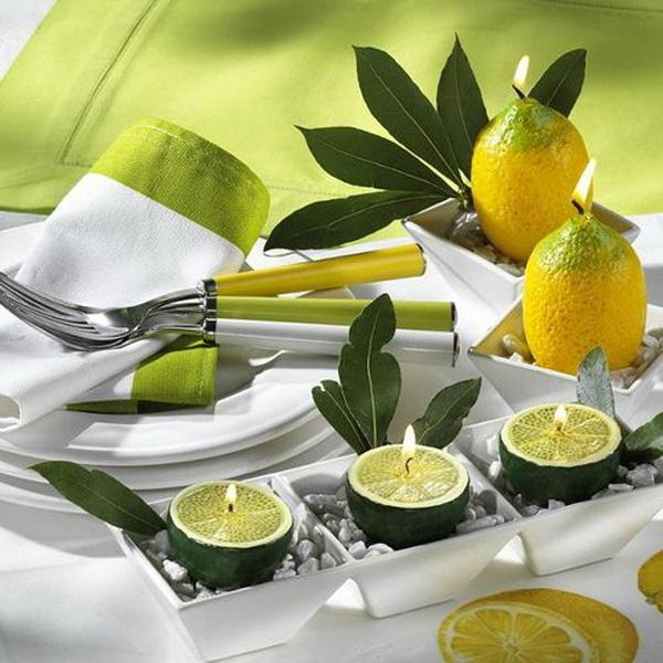 lemon candles