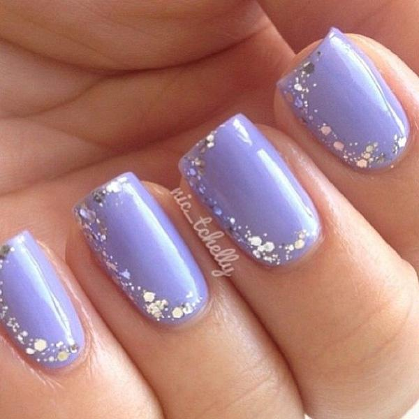 purple giltter nail-41