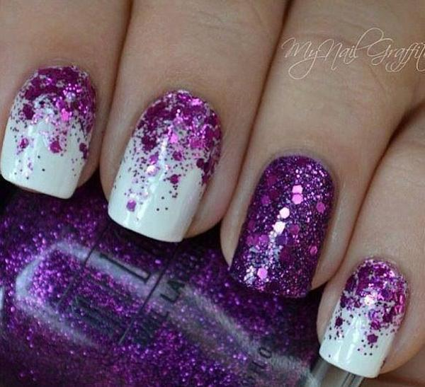 purple glitter nail-37
