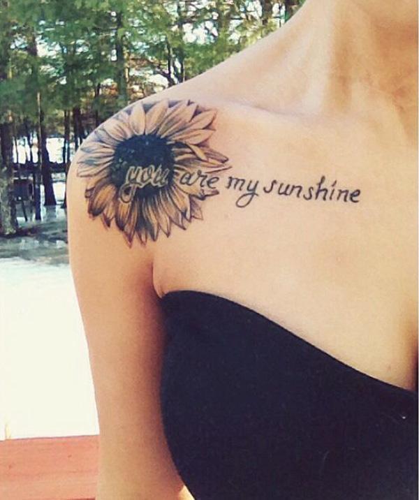 sunflower clavile tattoo