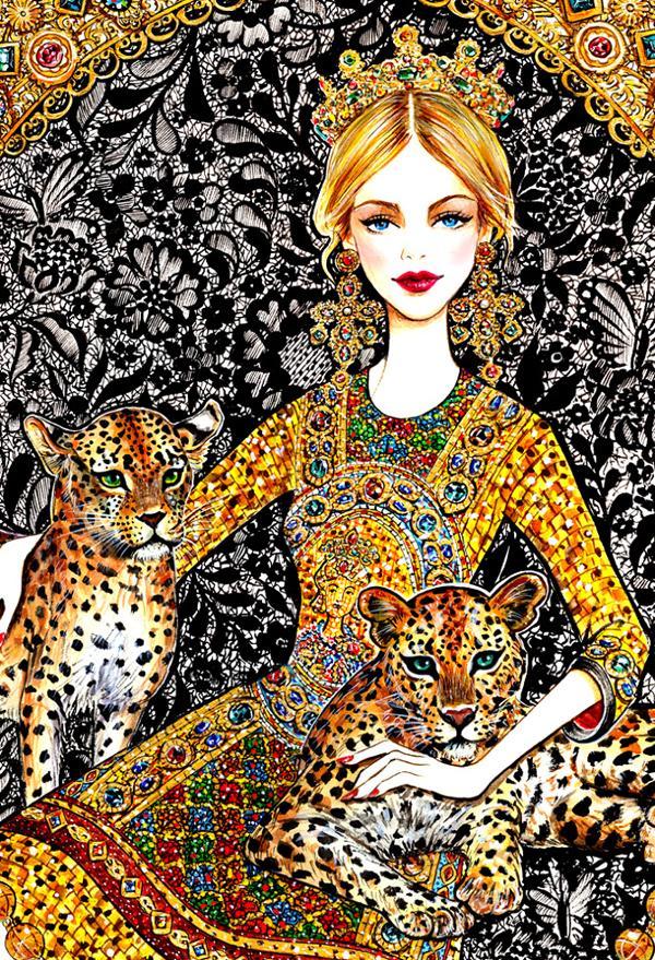 sunnygu_golden dreams_dolce gabbana_detail