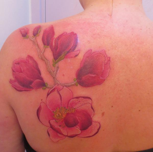 tattoo magnolia tak