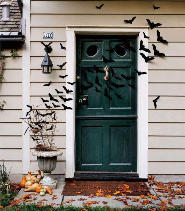 Bat-Filled Front Door