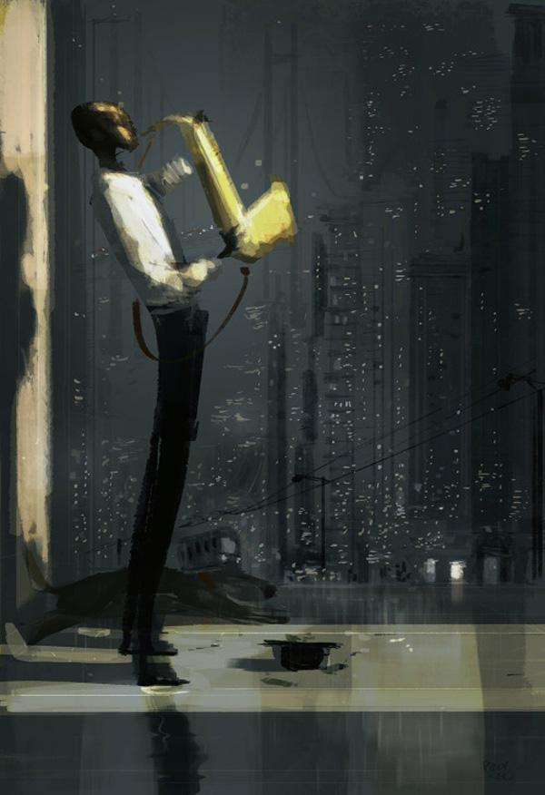 City of blues by Pascal Campion