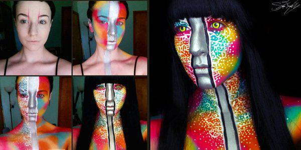 Cool halloween makeup for women