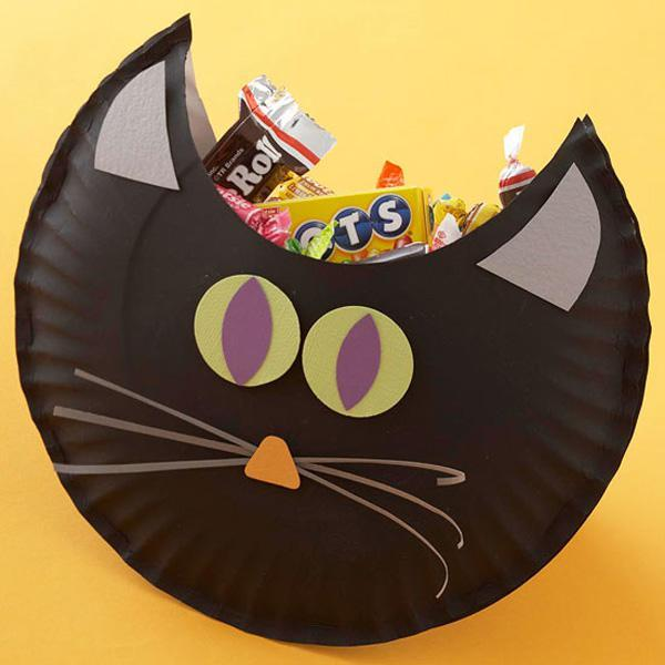 DIY Cat candy bag for halloween