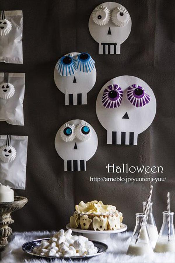 DIY Paper skull for halloween