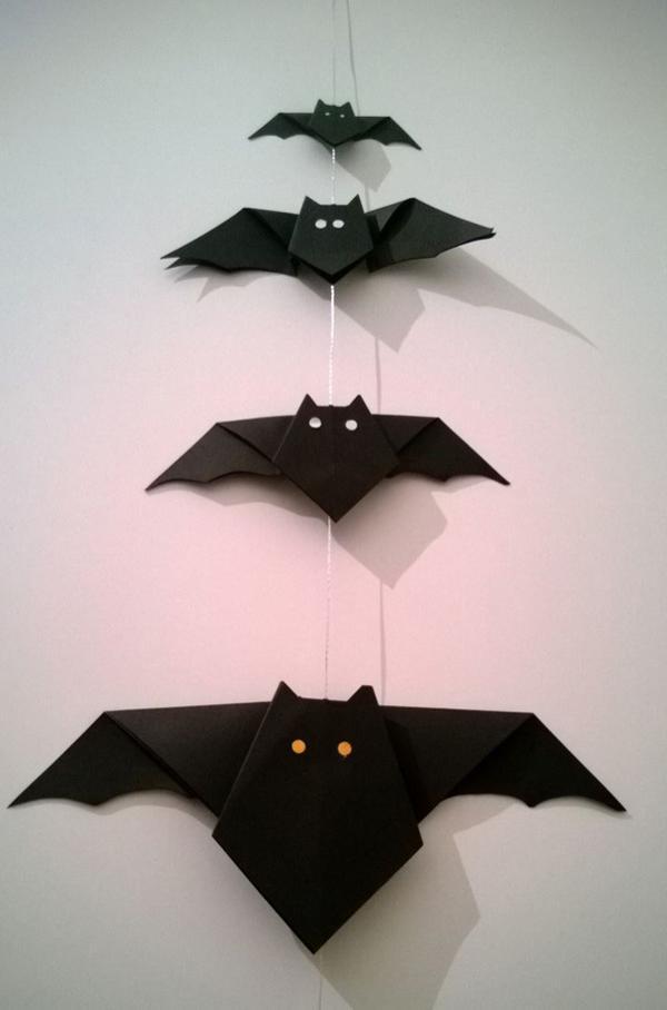 DIY bat  origami  halloween
