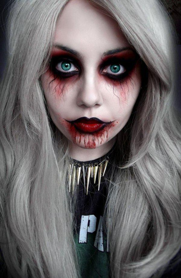 45 examples of diy halloween makeup art and design vampire inspired halloween makeup vampires will never be forgotten on halloween and this is the solutioingenieria Choice Image