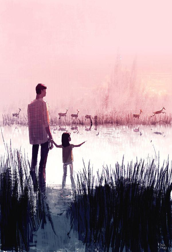 Deer Crossing by Pascal Campion