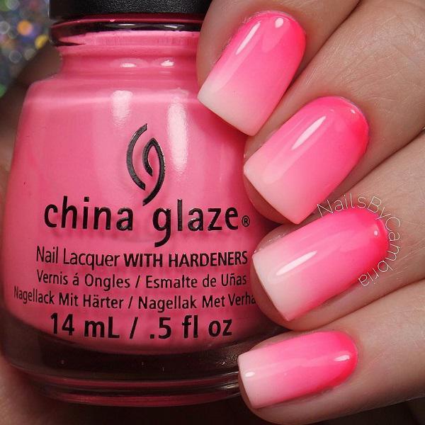 Gradient pink nail-7