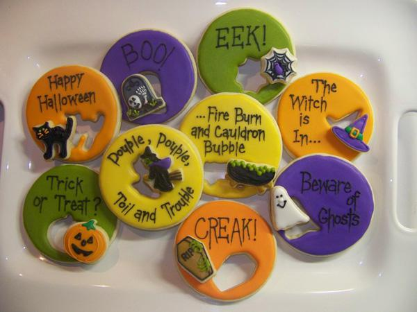 Halloween Cookie Cutouts and Sayings