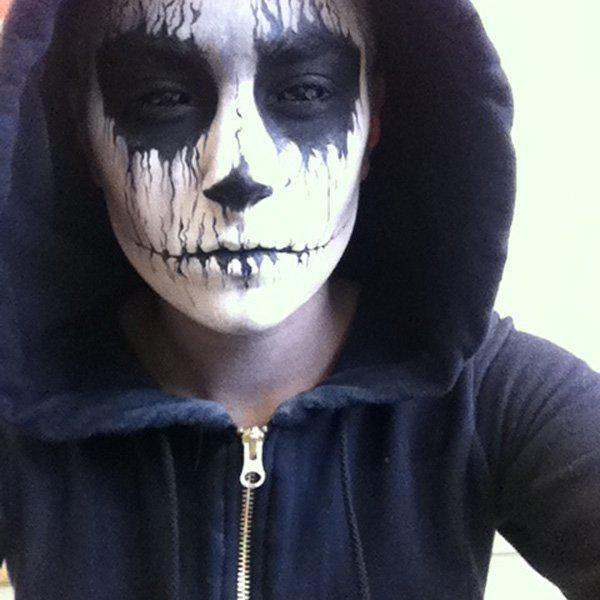 Halloween makeu-skull for man