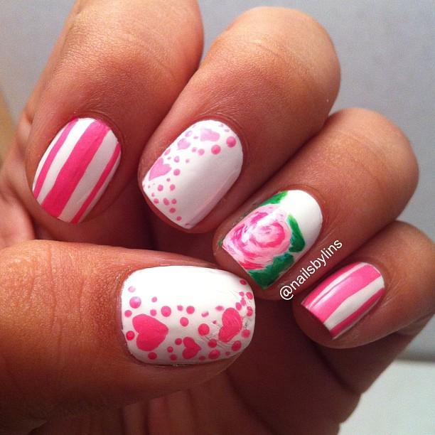 Pink and white with flower-23