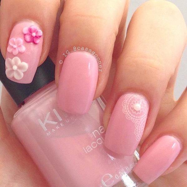 Pink cute nail-21