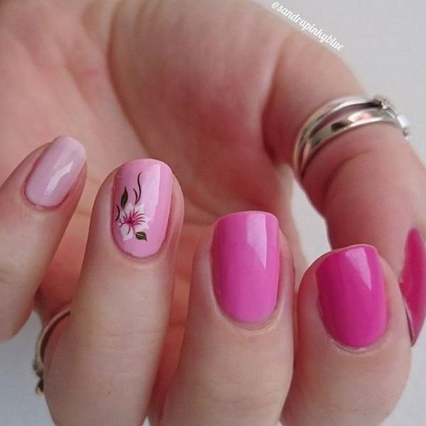 An Interesting Gradient Inspired Pink Nail Art Design Unlike The Regular Nails Dark