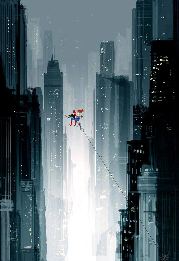 Spiderman, Spiderman.. (Theme song….)  by Pascal Campion