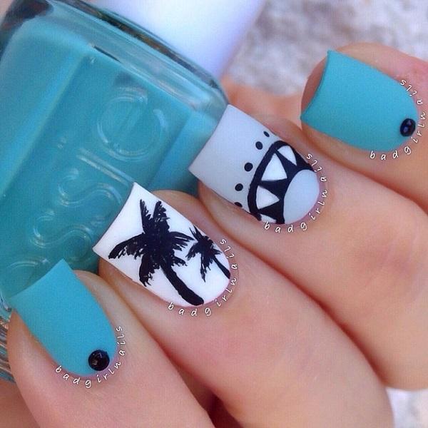 50 Blue Nail Art Designs