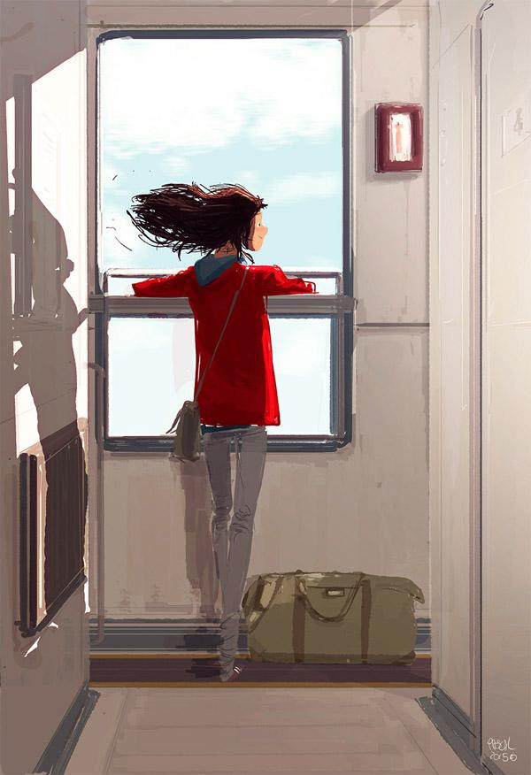 The rolling stone. by Pascal Campion