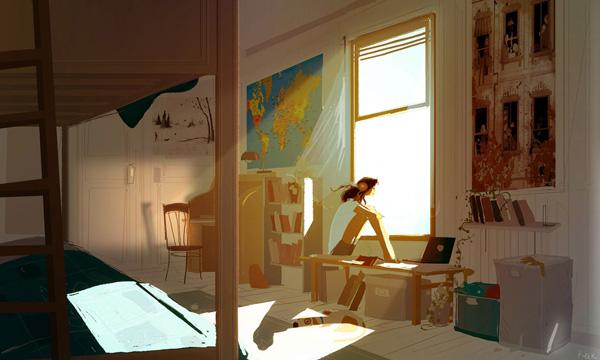 There is a breeze coming through the window by Pascal Campion
