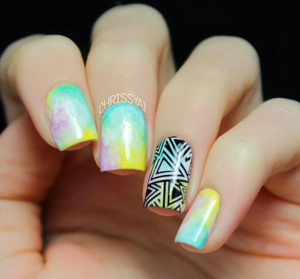 Watercolor Nail Art-1