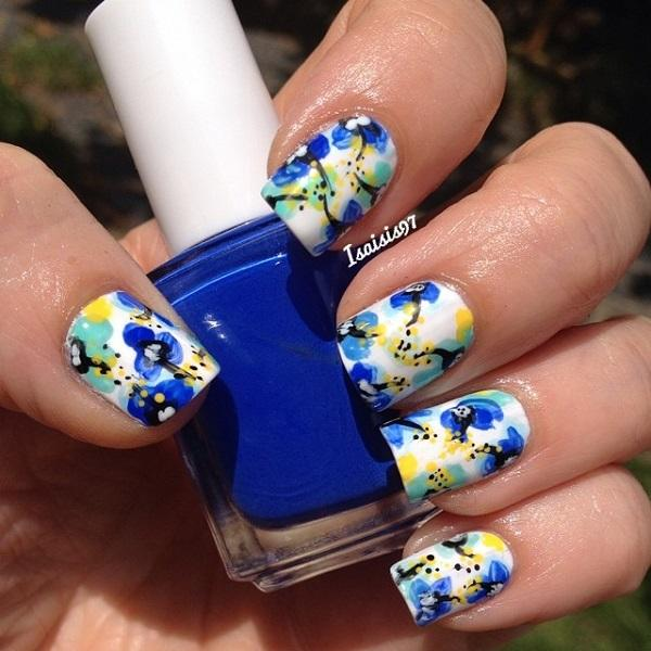 Watercolor nail art-10