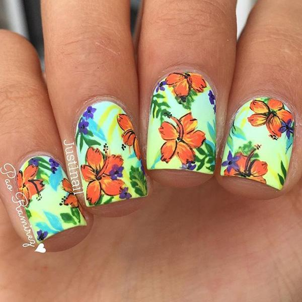 Watercolor nail art-11