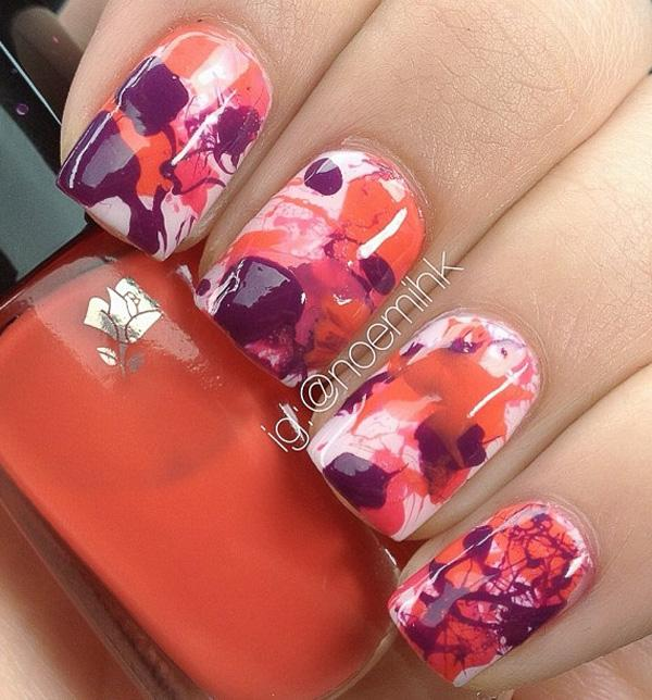 Watercolor nail art-13