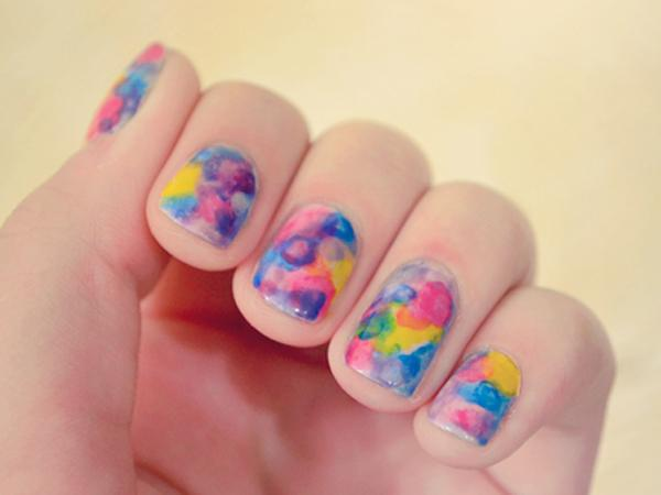 Watercolor nail art-14
