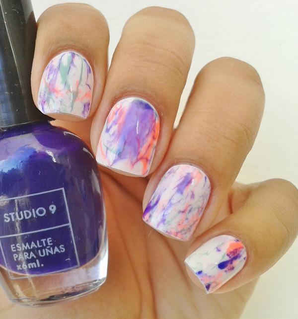 Watercolor nail art-15