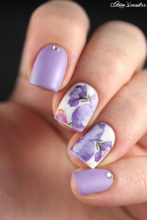 Watercolor nail art-20