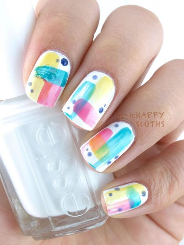Watercolor nail art-21