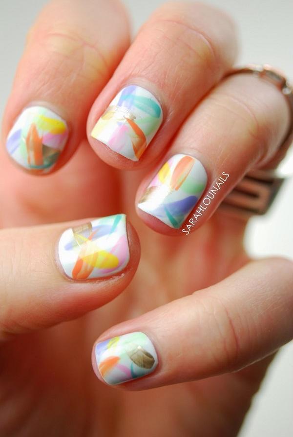 Watercolor nail art-22