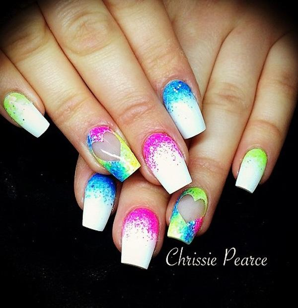 Watercolor nail art-24