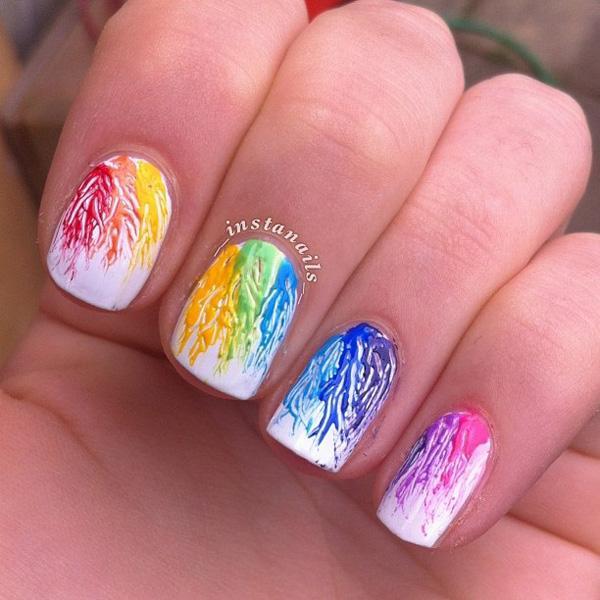 Watercolor nail art-25
