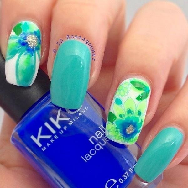 Watercolor nail art-28