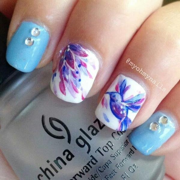 Watercolor nail art-29
