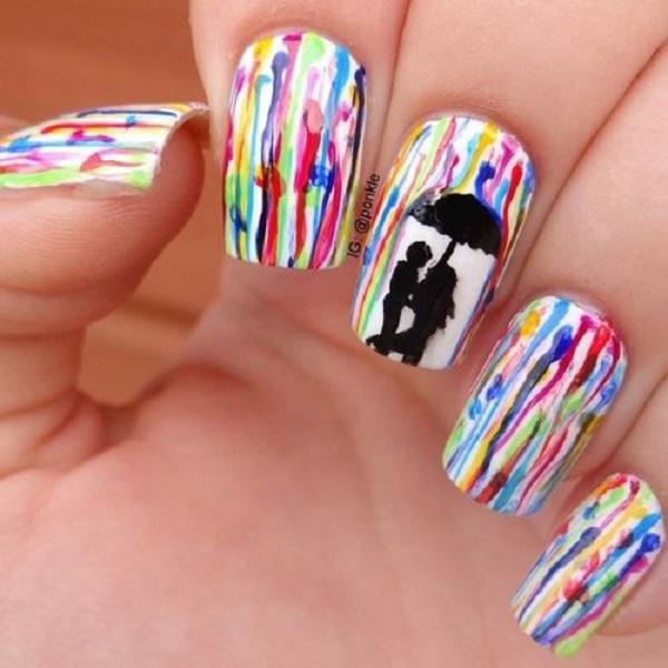 Watercolor nail art-3