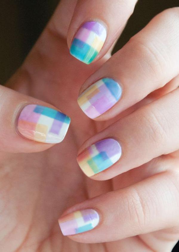 Watercolor nail art-30