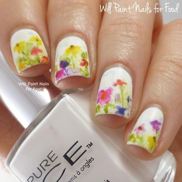 Watercolor nail art-34