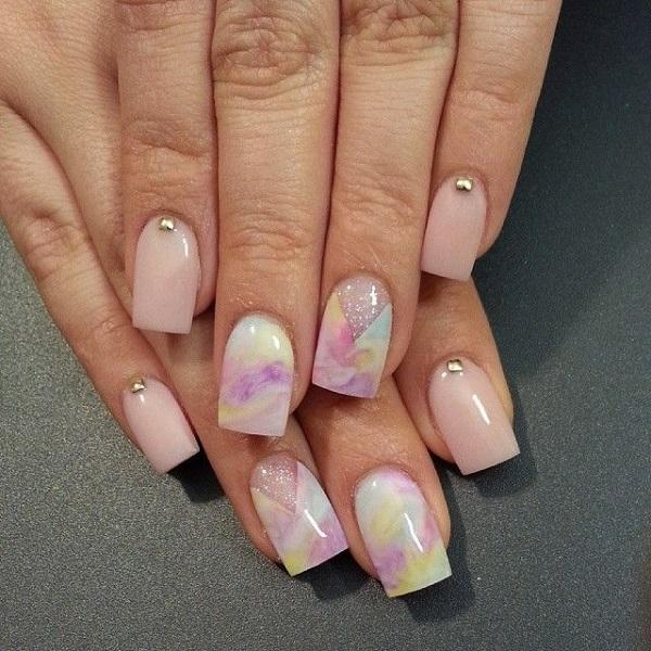 Watercolor nail art-35