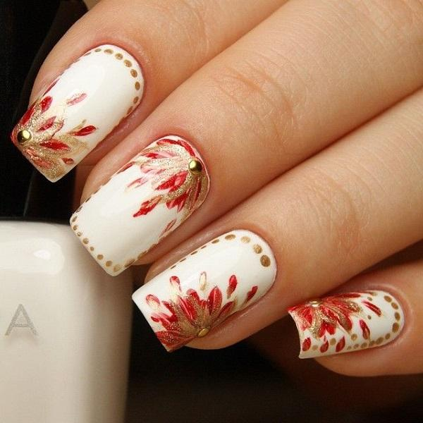 Watercolor nail art-36
