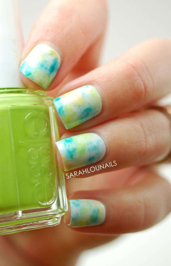 Watercolor nail art-39