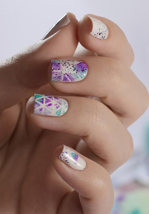 Watercolor nail art-41