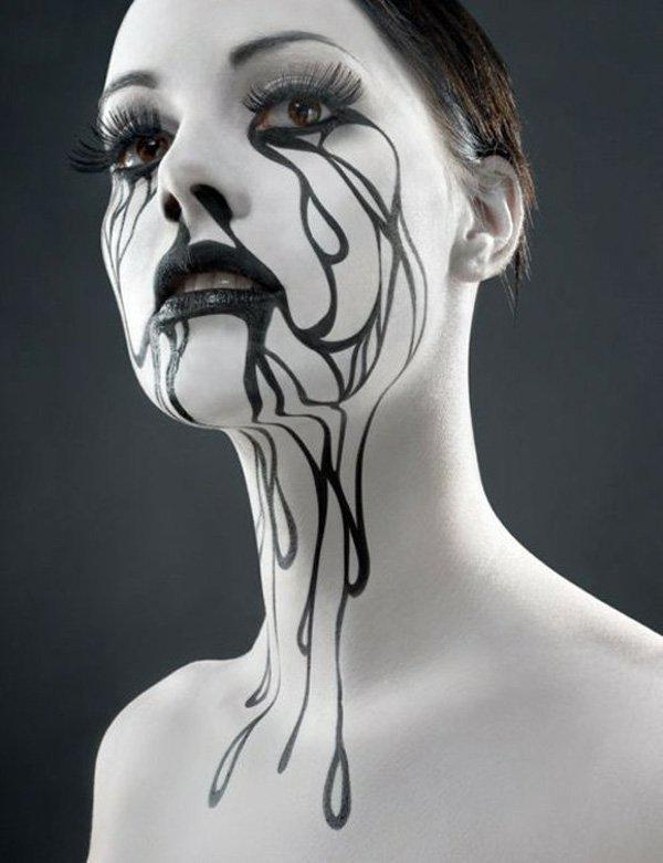 black-white-halloween-body-painting