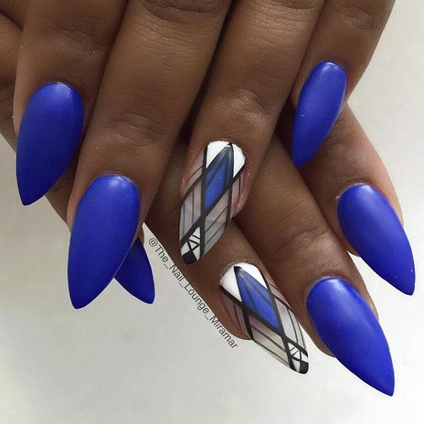 50 Blue Nail Art Designs  Art and Design