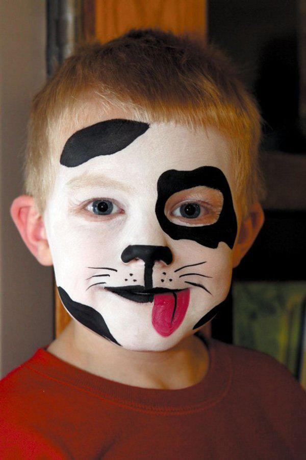 halloween-makeup-ideas-boys-kids-cute-black-white-puppy