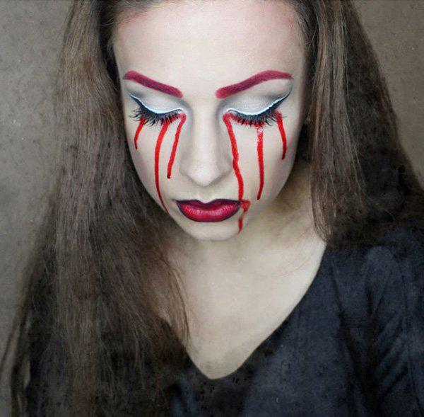 halloween-makeup-ideas-women-bloody-tears-scary